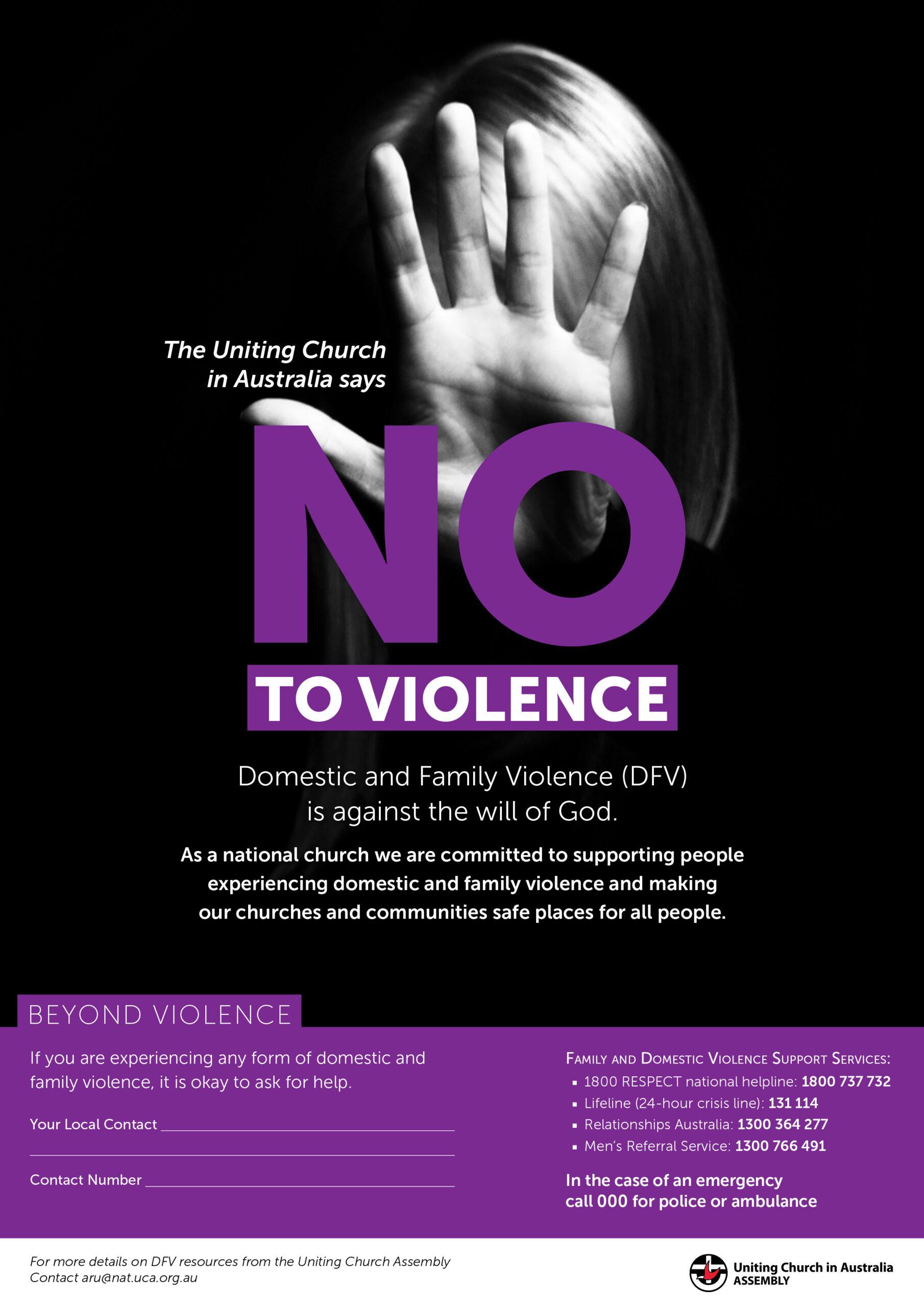 Beyond Violence, Uniting Church Australia